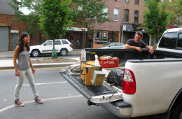 Fourth-generation beekeeper Andrew Coté keeps hives in Brooklyn, Queens, and Manhattan, and drives his truck from stop to stop, bees hovering over the truckbed, trying to reclaim the stolen honey.