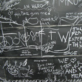 A blackboard at the opening of The Meat Hook, the Williamsburg shop that Tom opened with his friends and fellow butchers, Ben Turley and Brent Young.